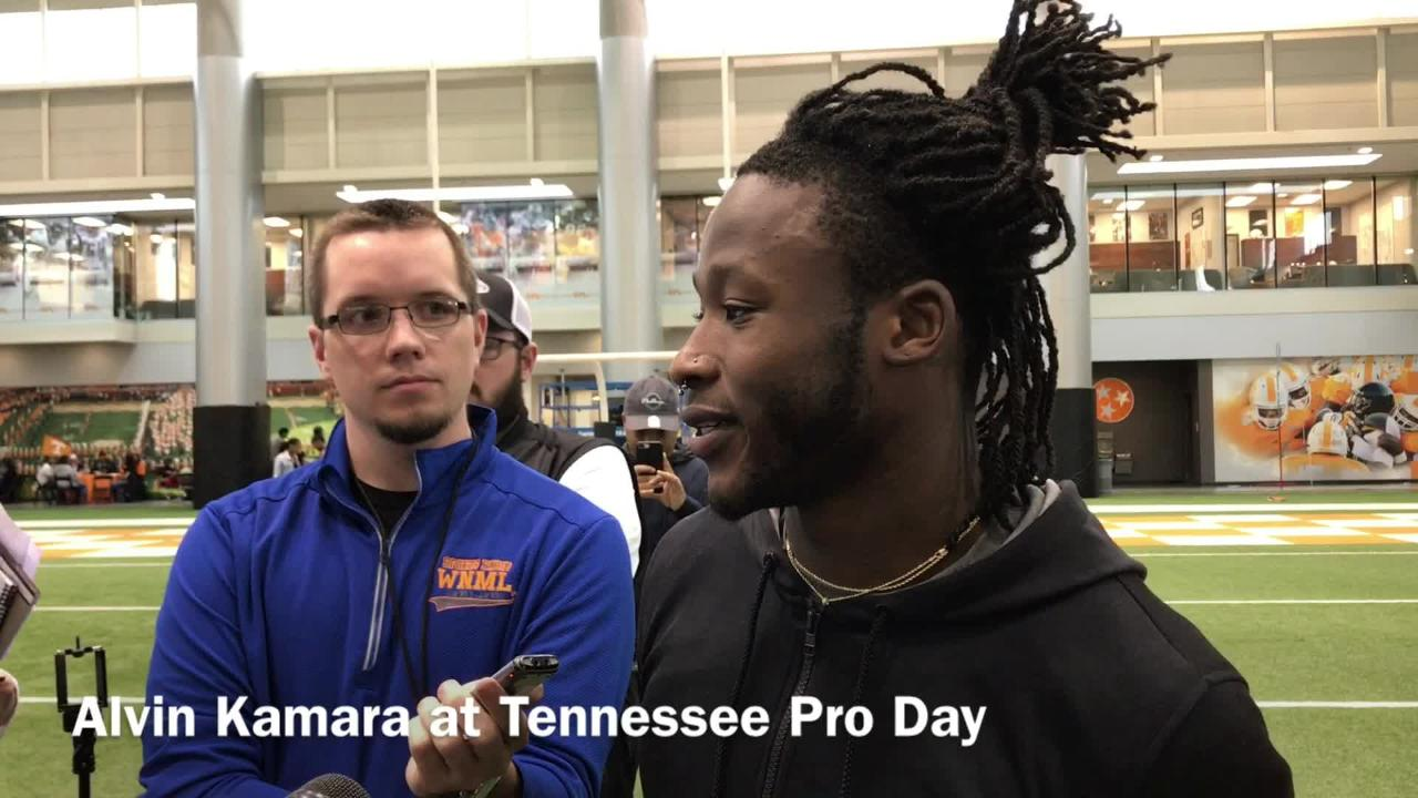 Alvin Kamara discusses Vols Pro Day