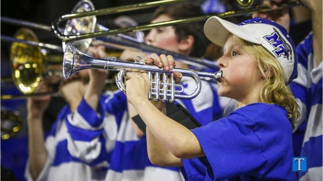 VIDEO: MTSU pep band has a special trumpet player