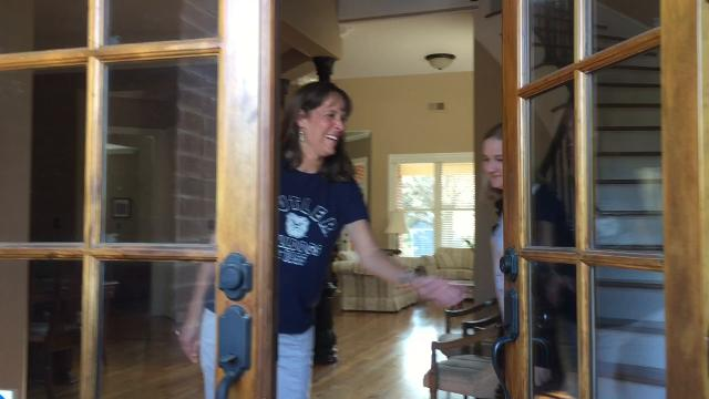 Butler Blue III surprises a Collierville resident accepted to Butler University