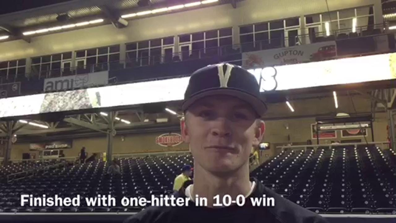Chandler Day nearly gets no-hitter