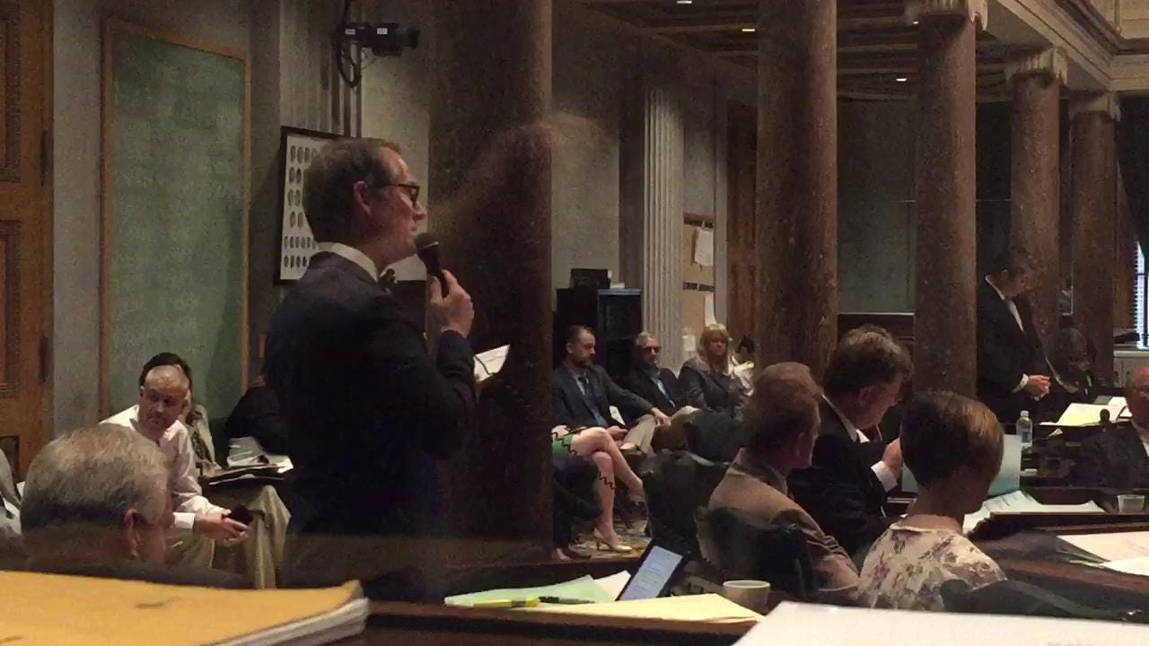 Sen. Bo Watson speaks against moving Polk