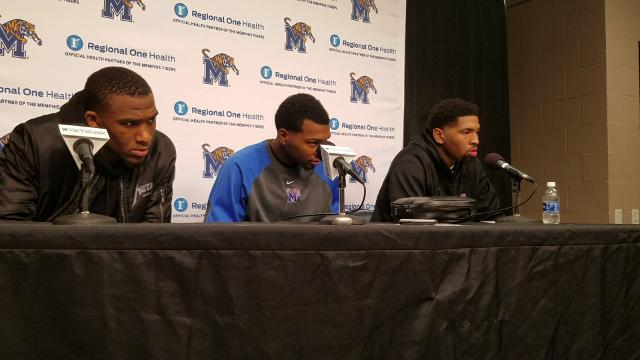 Memphis players talk after Tulane win