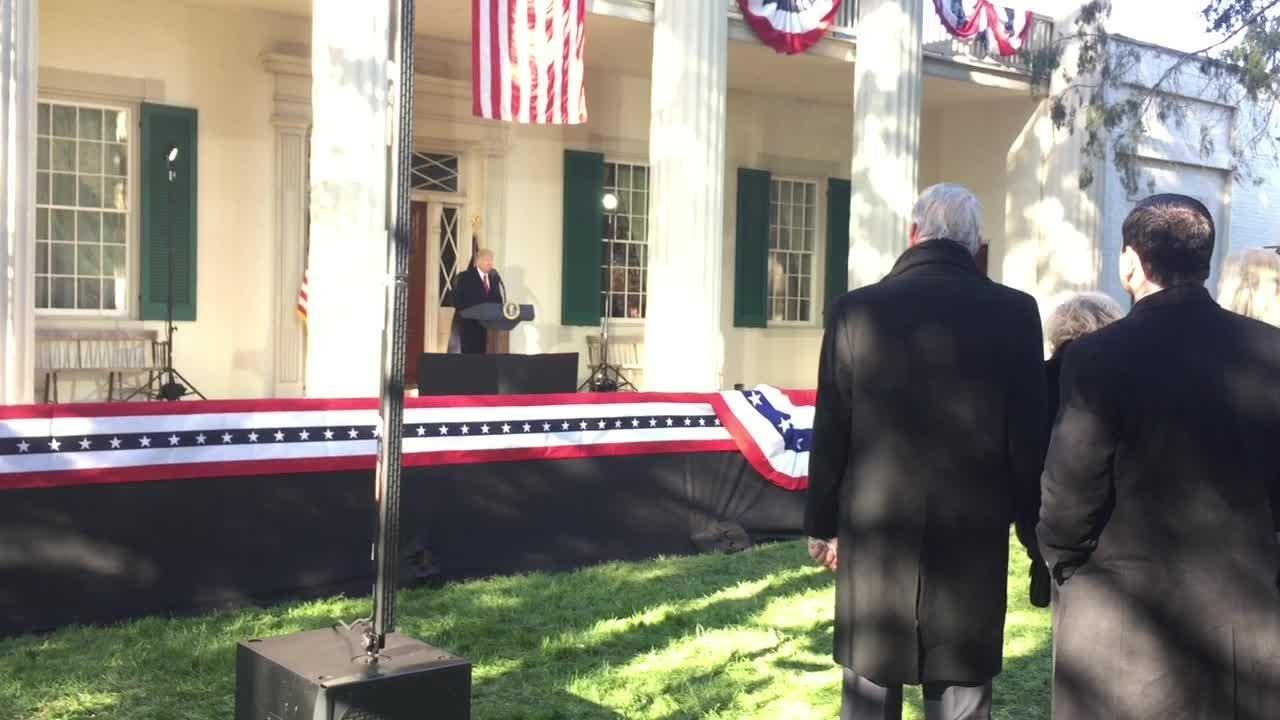 President Trump's full speech at Andrew Jackson's The Hermitage