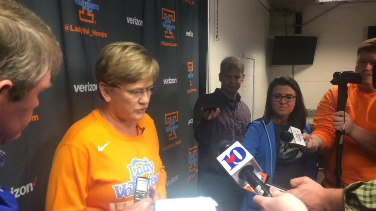 Tennessee's Holly Warlick speaks with newly named AD John Currie