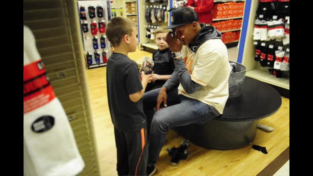 VIDEO: Former UT QB Joshua Dobbs takes kids shopping