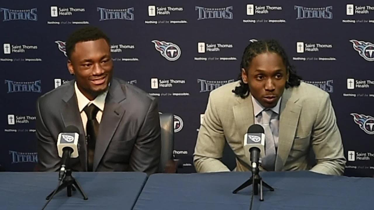 Titans pick Adoree' Jackson talks about out running a train when he was eight-years-old
