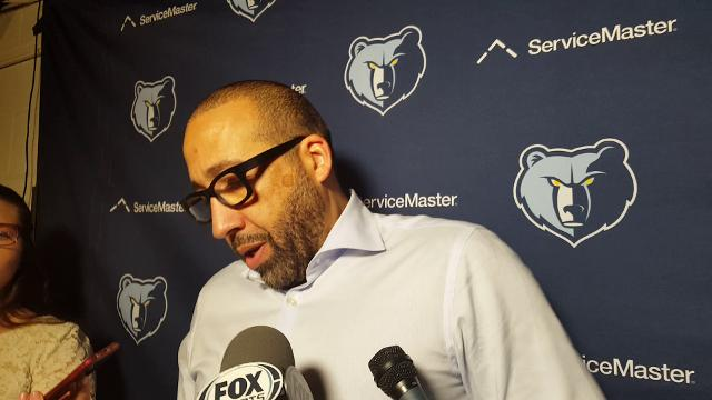 Griz coach David Fizdale after loss to Spurs