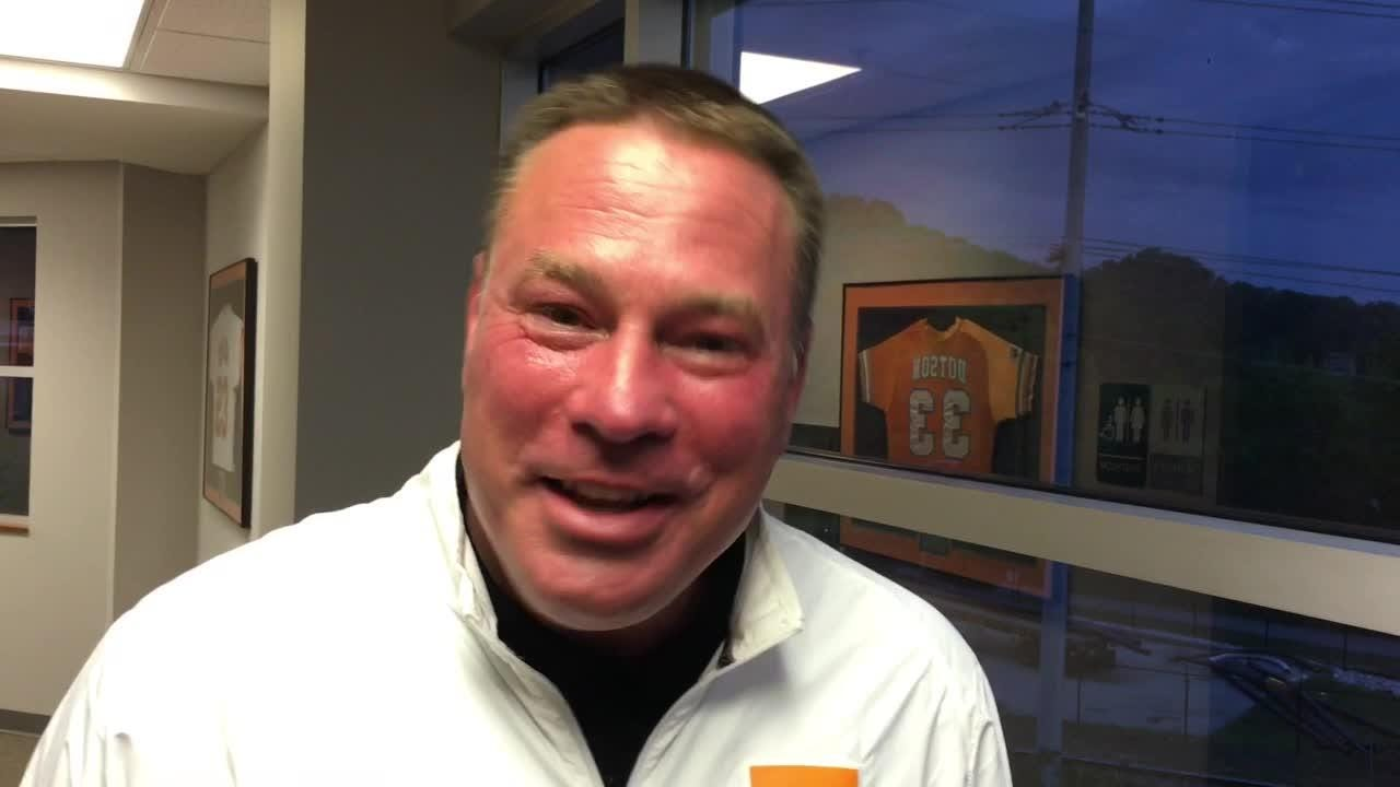 Butch Jones supports Tennessee softball.
