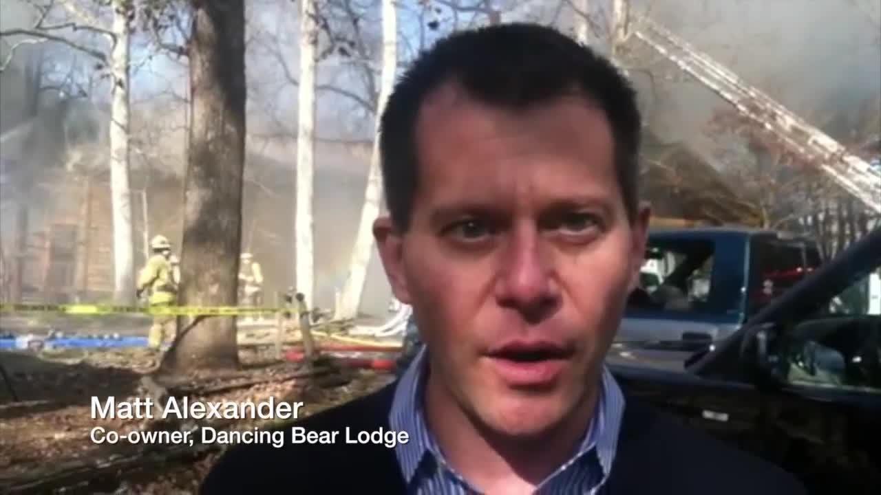 Fire engulfs Dancing Bear Lodge in 2013