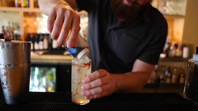 Ben Williams makes a 'Fire on the Mississippi' cocktail