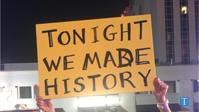 Predators Fans outside the arena