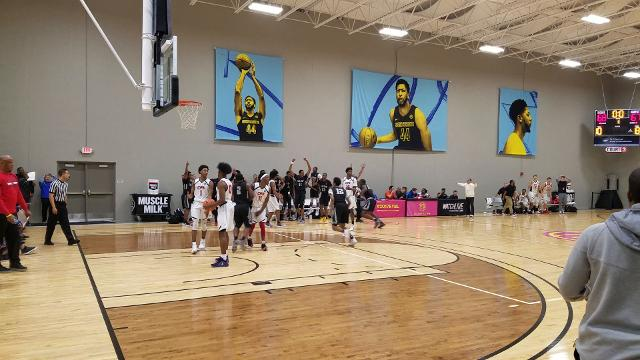 Watch Jordan Johnson's EYBL buzzer beater for Team Penny