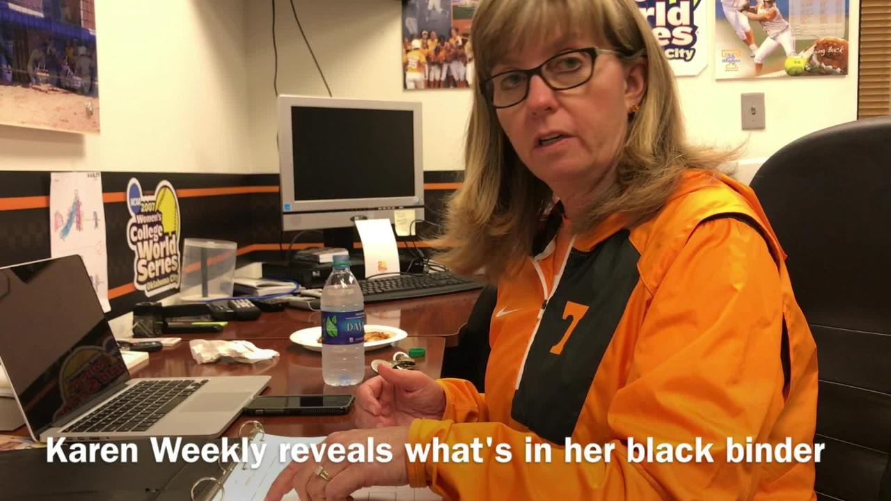 What's in Karen Weekly's black binder?