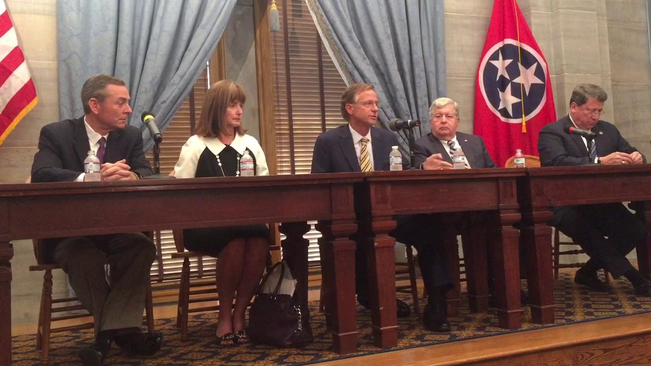 Gov. Bill Haslam celebrates end of 2017 legislative session