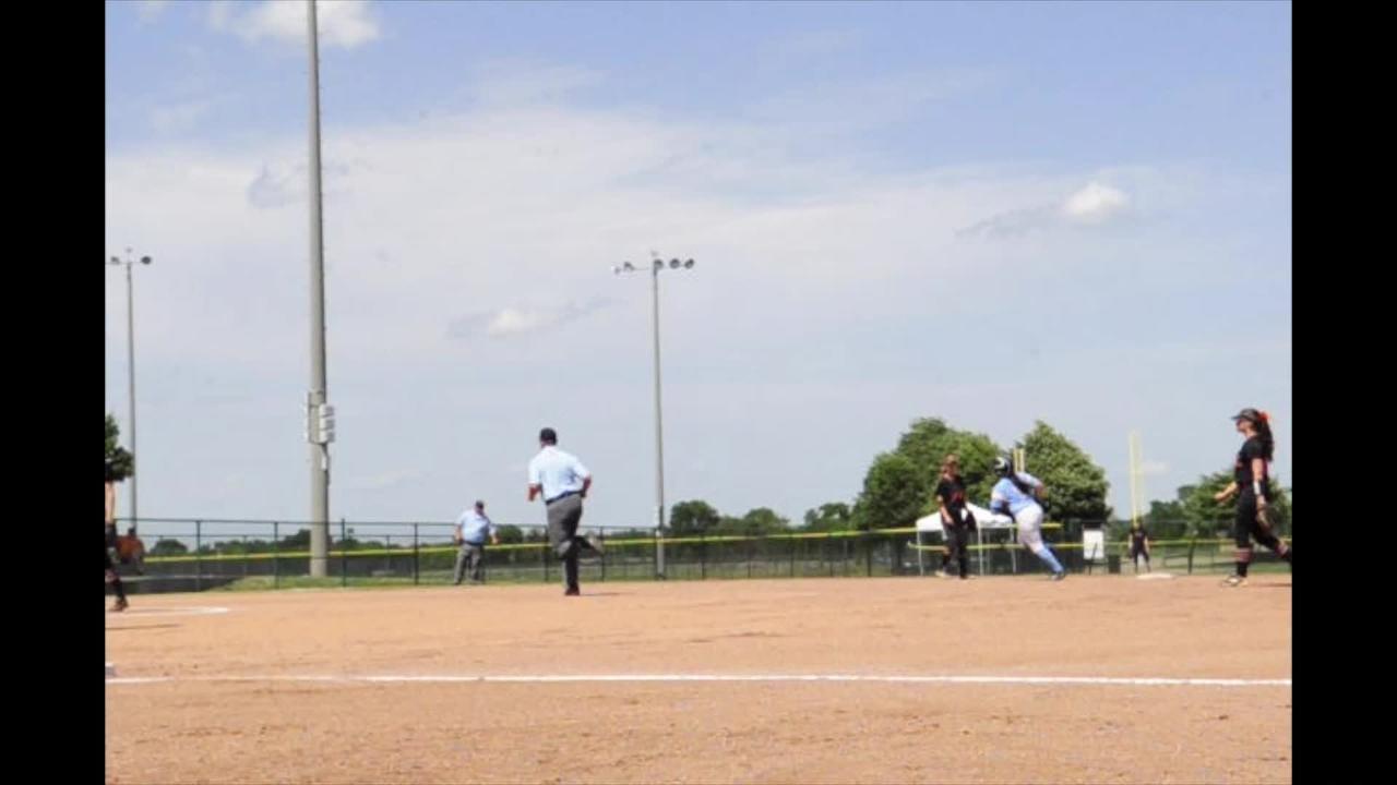 Gibbs Macey Hughes hits home run at Spring Fling