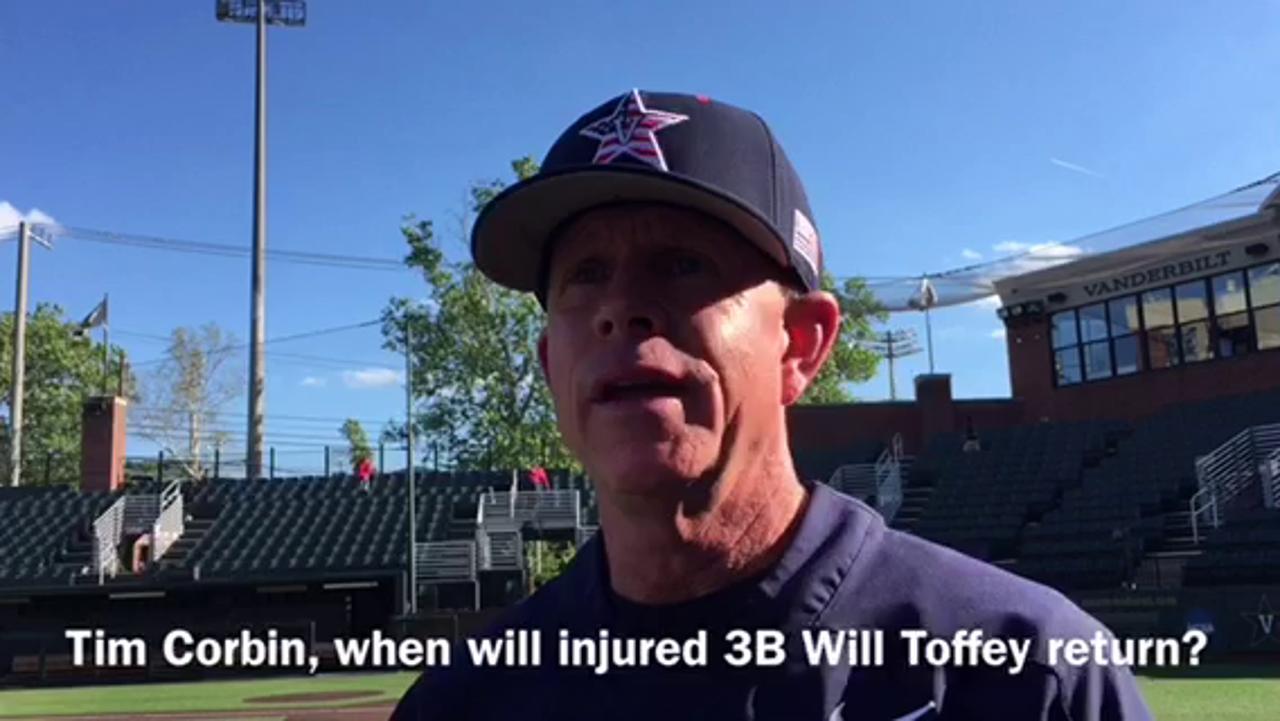 Update on Vandy injured 3B Will Toffey