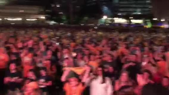 Watch: Predators fans outside of Bridgestone Arena celebrate