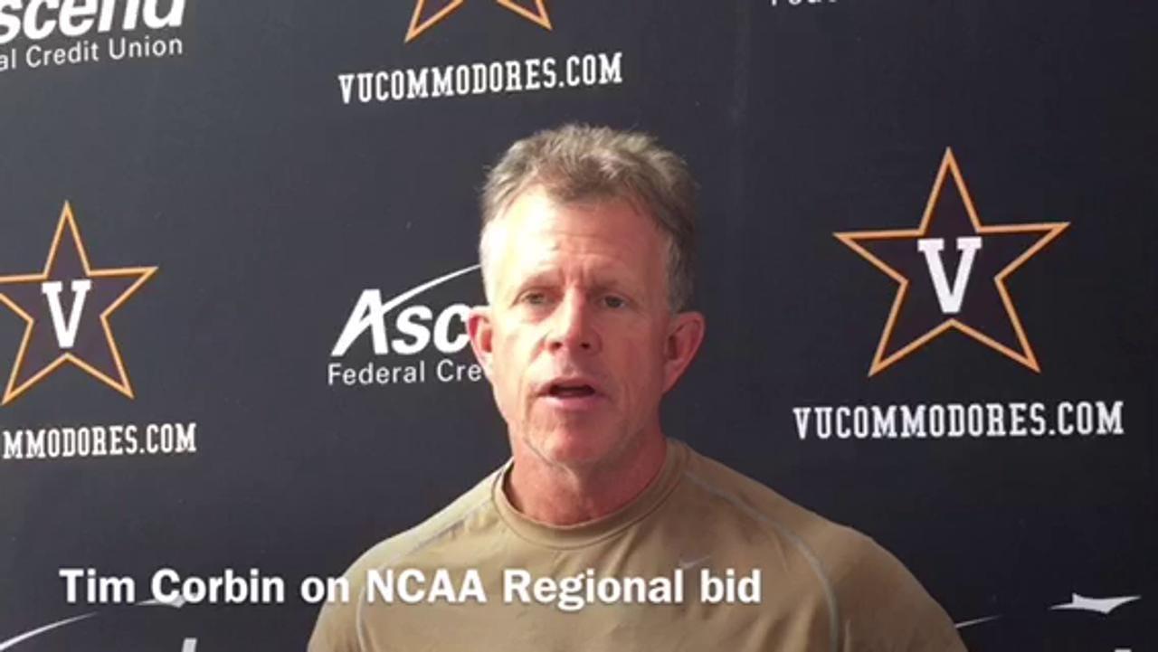 Vandy's Tim Corbin reacts to NCAA Regional bid