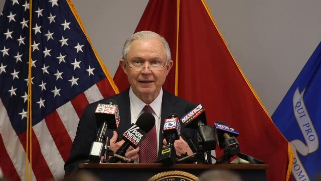 U.S. Attorney General speaks to federal, state and local law enforcement in Memphis