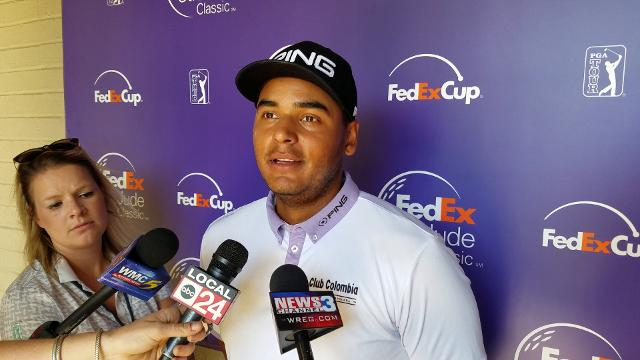 Co-leader Sebastian Munoz talks about his rise at the FedEx St. Jude Classic