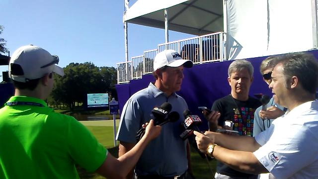 Phil Mickelson addresses reporters before 2017 FedEx St. Jude Classic