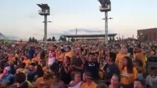 Predators fans at the Ascend Amphitheater