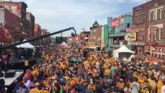 Predators fill Broadway for Game 3 of the Stanley Cup FInal