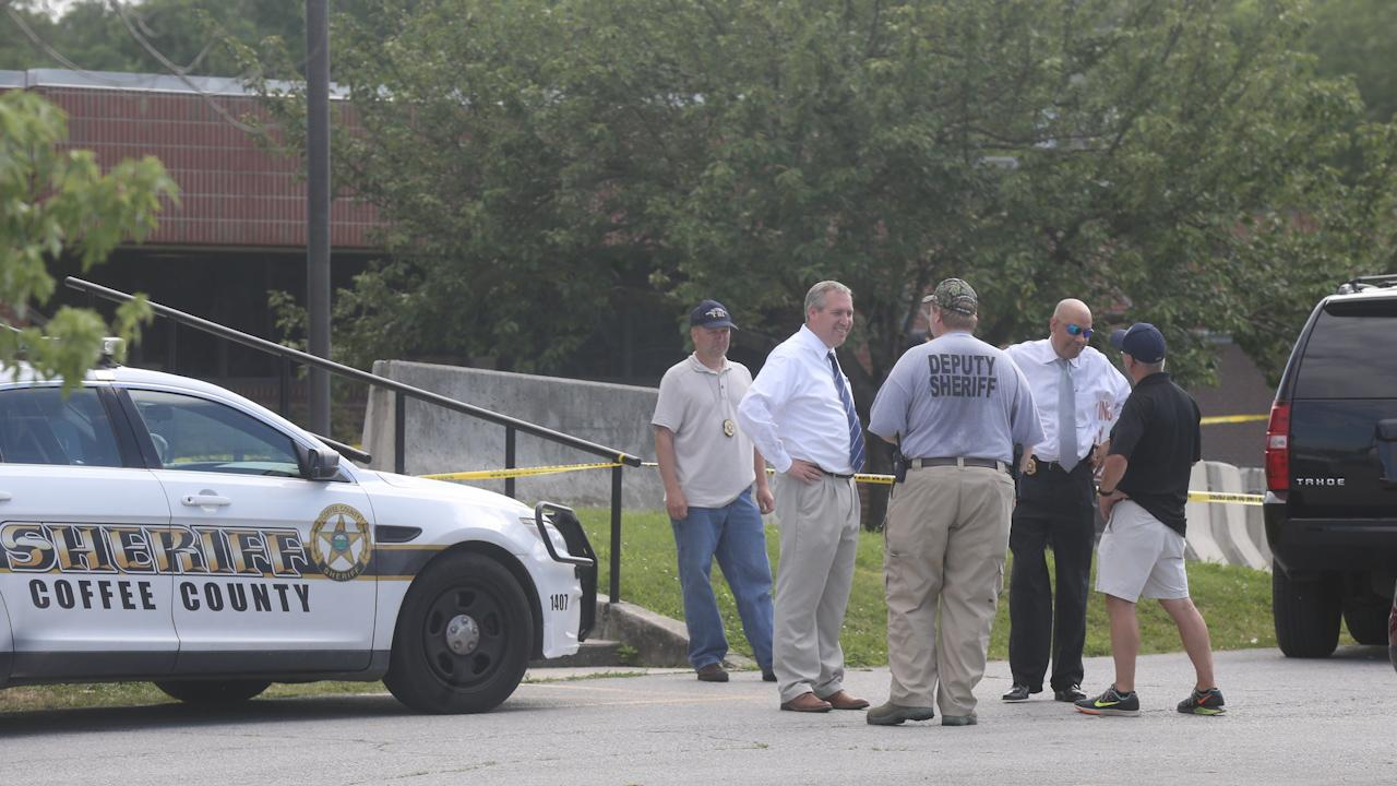 Press conference over the shooting of two officers in coffee county