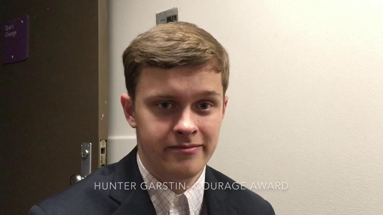 Watch: What being named Courage Award recipient means to Hunter Garstin