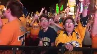 Predators fan throws catfish after Game 4 win over Pittsburgh Penguins