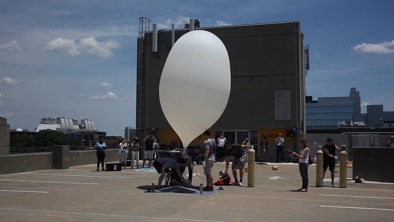 Students at Vanderbilt launch a weather balloon into space in preparation for the eclipse on August 21st. Video by Josie Norris
