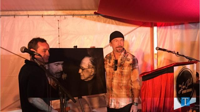 U2's The Edge honored at Bonnaroo