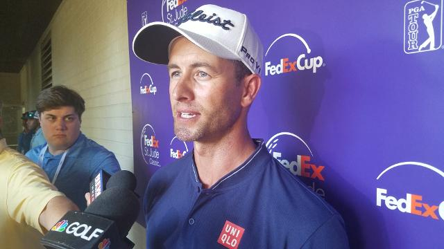 Adam Scott explains his strong second round at the FedEx St. Jude Classic