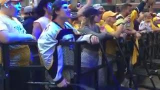 Predators fans at Broadway Smash cheer