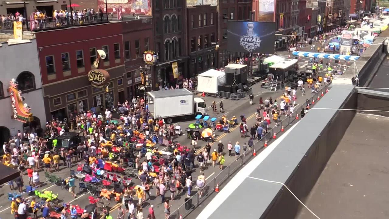 Country and hockey fans fill Broadway on Sunday for CMA Fest, Stanley Cup Final