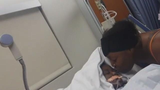 Heart-wrenching video inside hospital room of 2-year-old shot in head