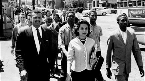 Diane Nash: Organizing a silent march after attorney Looby's home was bombed