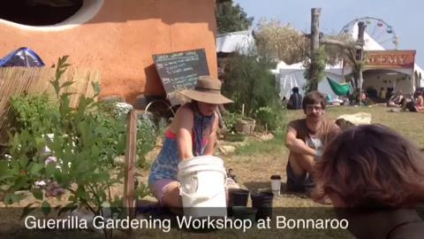 Gardening workshops at Bonnaroo