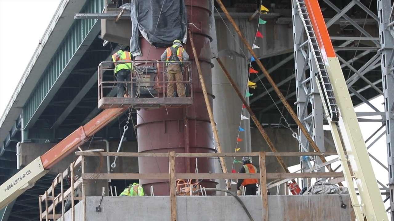 Work on I-495 bridge nears completion