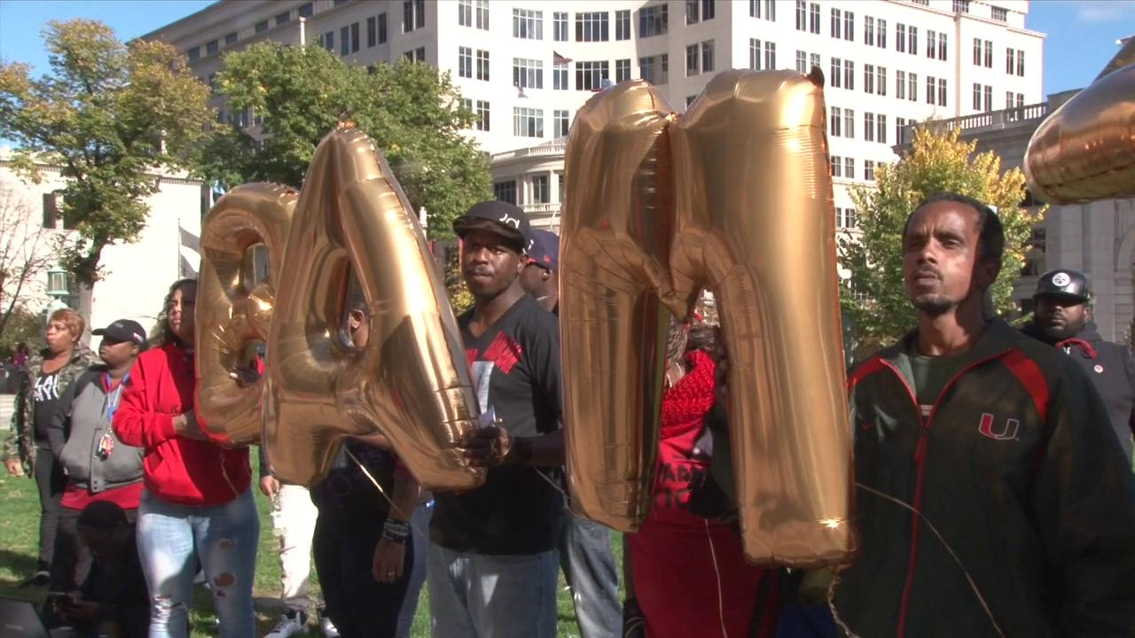 McDole family leads march, rally