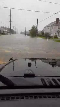 Flooding in Bethany Beach on Thursday, Sept. 29, 2016.