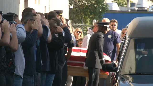 Raw video: Procession for fallen firefighters in Wilmington
