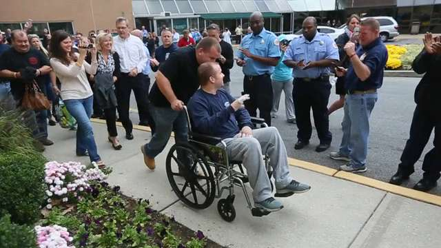 Wilmington Firefighter Returns Home After 41 Days