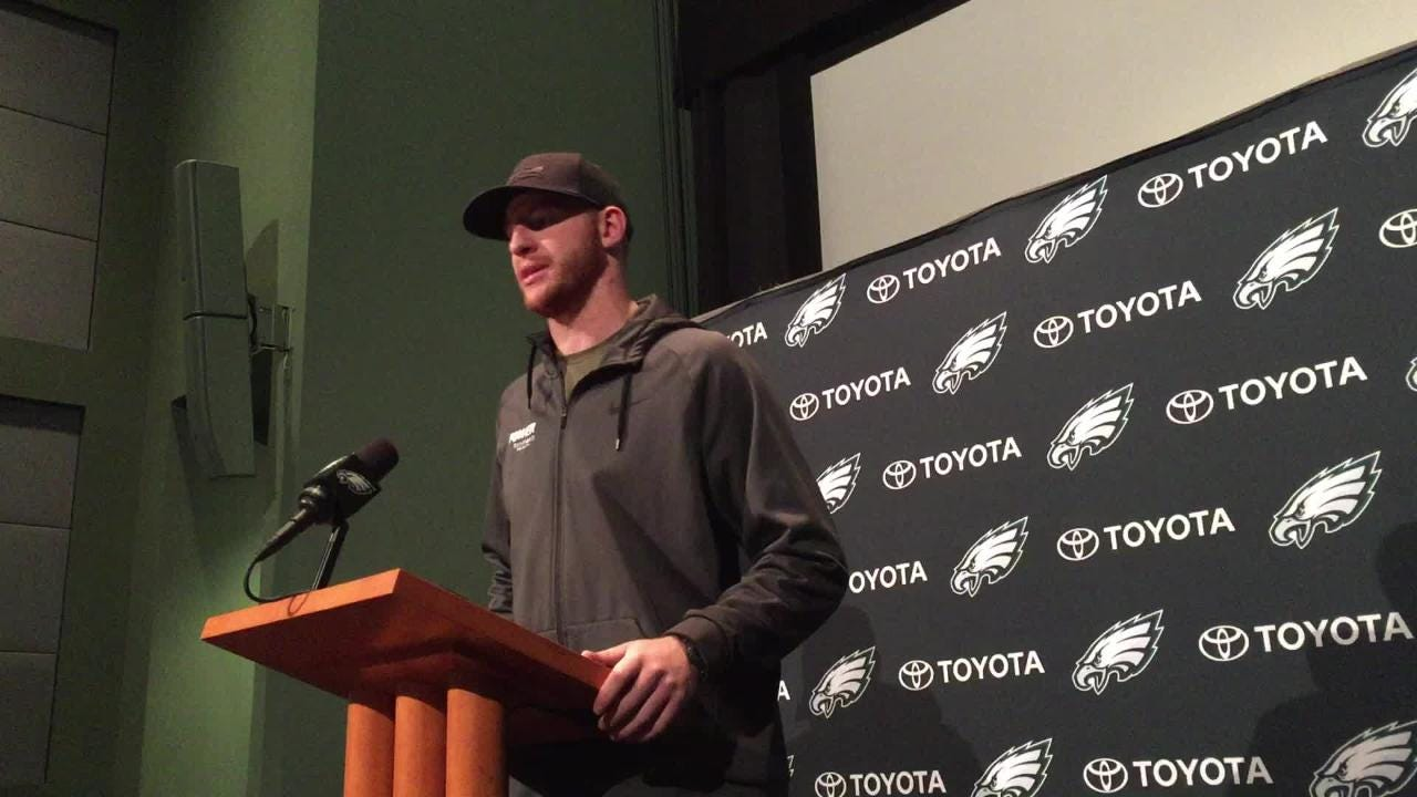 119a8a4e0d6 Wentz on finale, hunting with Mike Trout