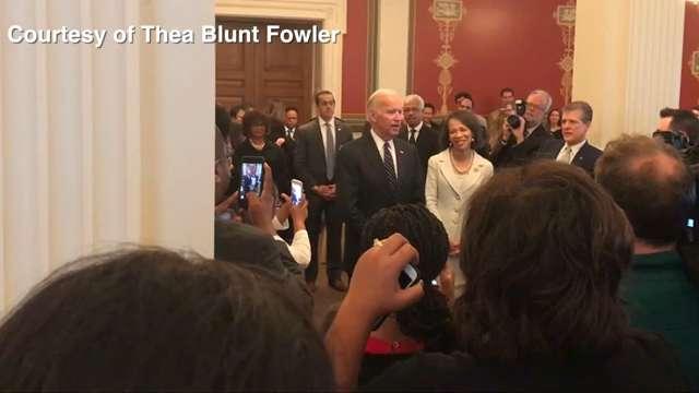 VP Joe Biden congratulates Lisa Blunt Rochester