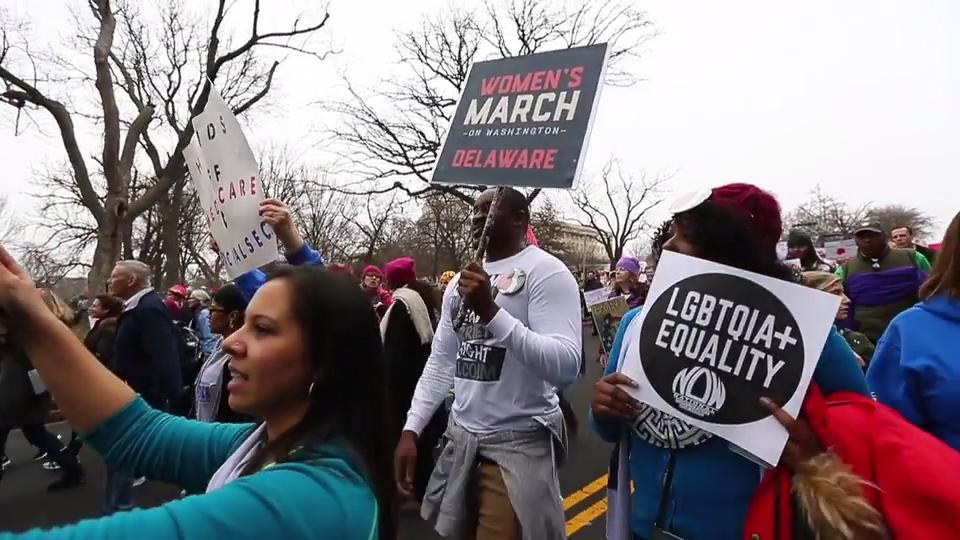 Delawareans join the Women's March on Washington