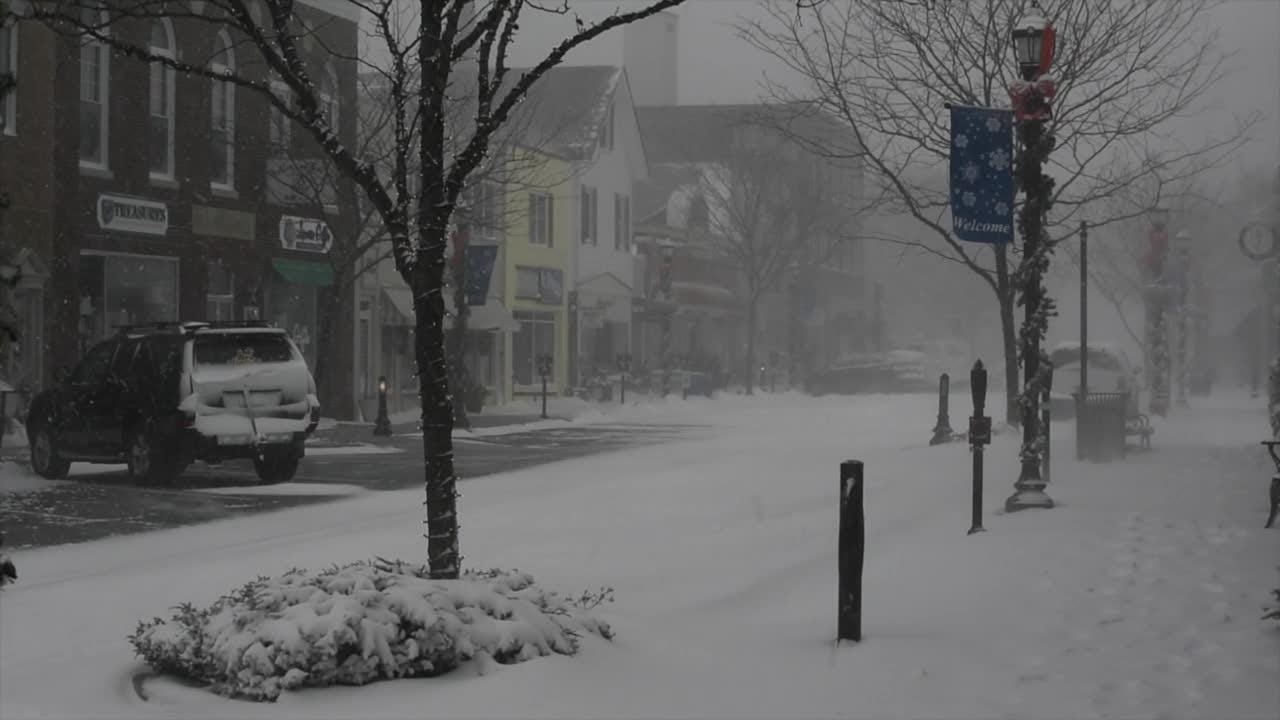 Winter storm hits Lewes
