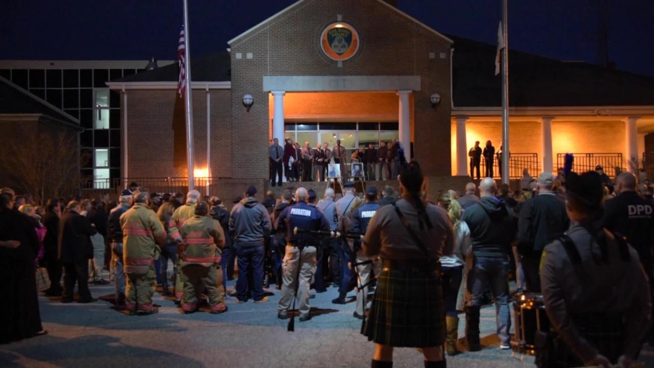 Fallen Dover officers mourned at vigil