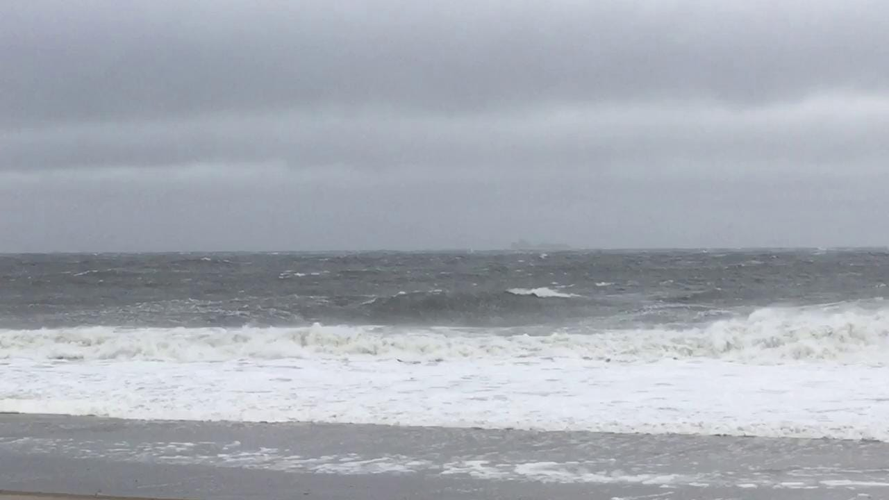 Storm waves at Rehoboth Beach