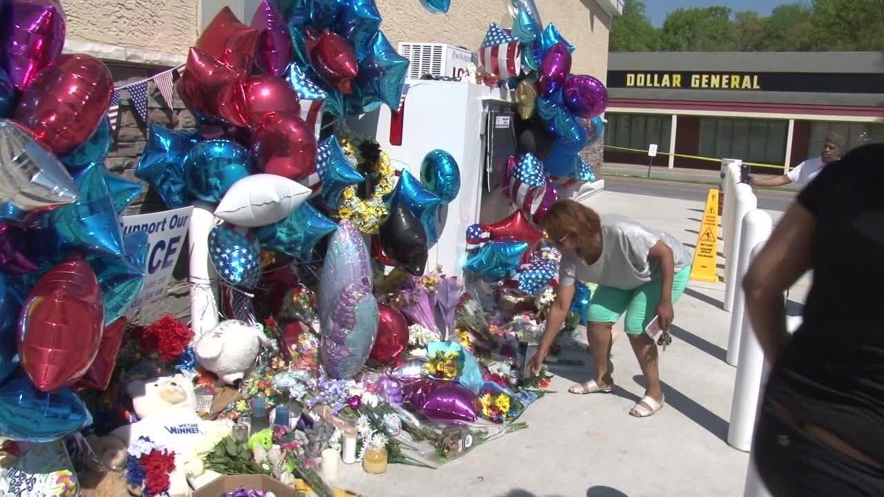 Memorial for fallen officer grows